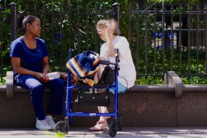 Most of the time, New Yorkers look after their elderly citizens